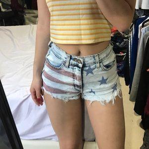 🔥SALE🔥 Amercan flag print highwaisted shorts